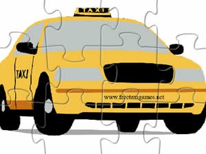 Cartoon Taxi Jigsaw