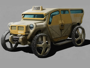 Retro Taxi Jigsaw