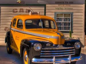 Retro Taxi Puzzle